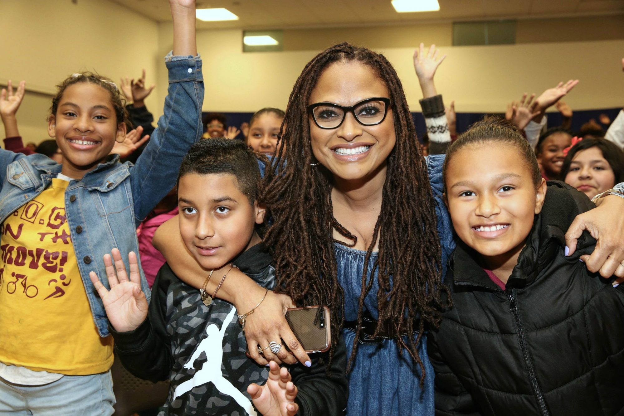 "Photo of Ava DuVernay at a Screening of ""A Wrinkle in Time"" in Compton"