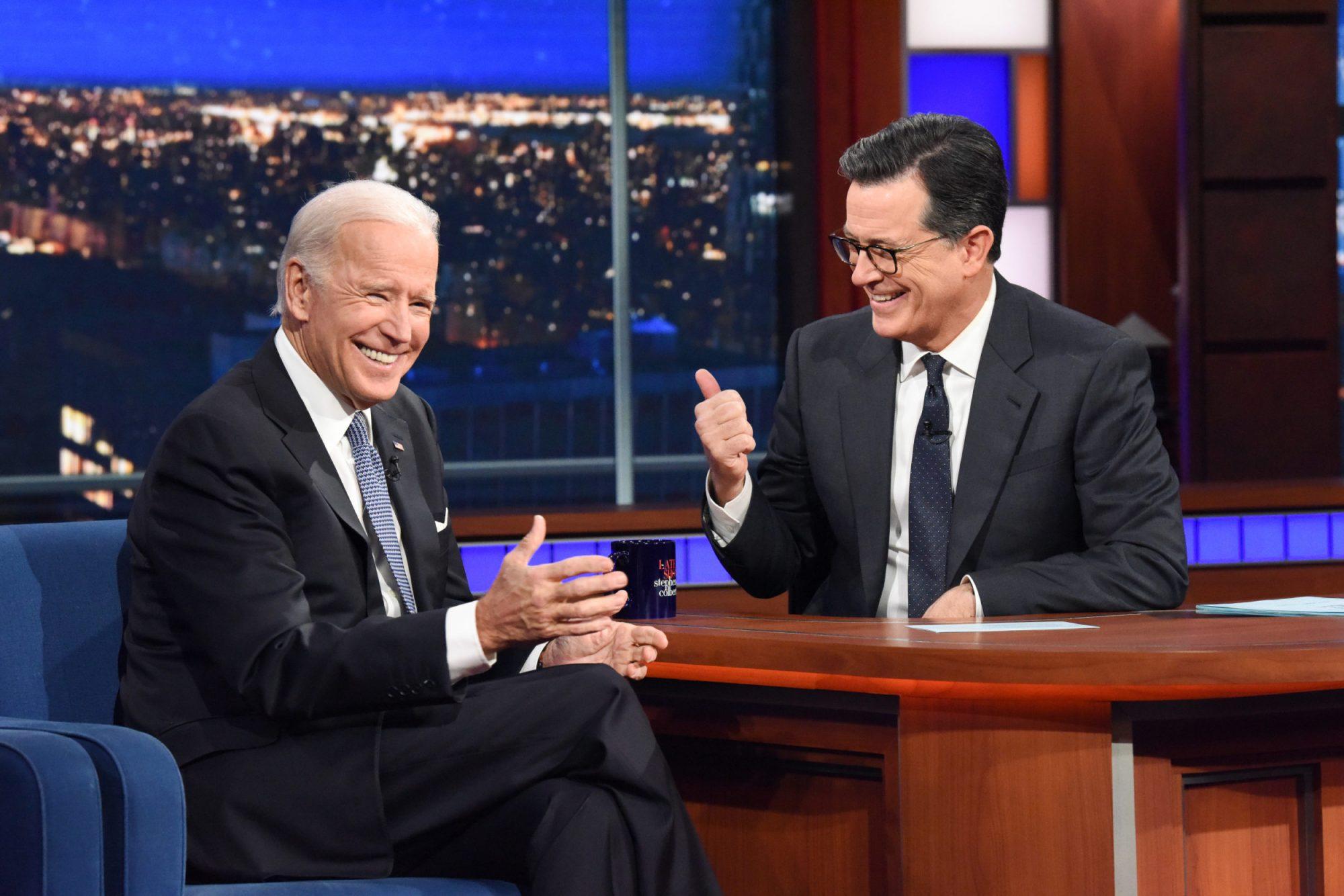Photo of Joe Biden on The Late Show With Stephen Colbert