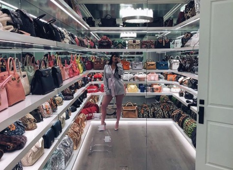 Picture of Kylie Jenner Handbag Closet