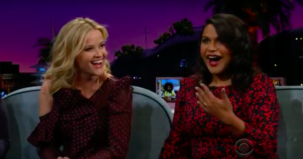 late late show corden mindy kalling reese witherspoon