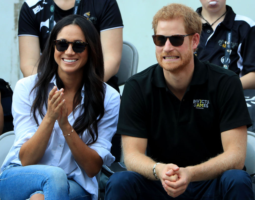 Prince Harry and Meghan Markle watch Wheelchair Tennis at the 2017 Invictus Games in Toronto,