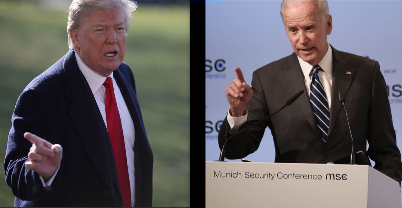 Donald Trump and Joe Biden are feuding on Twitter