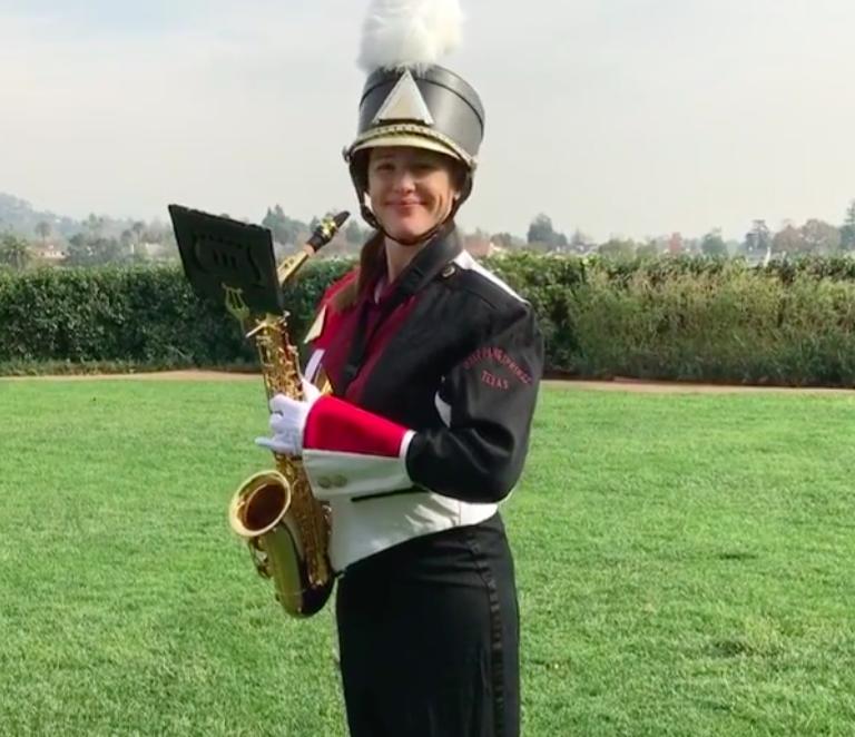 jennifer garner sax marching band