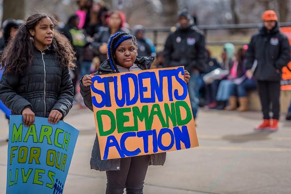 Students demand gun control in New York