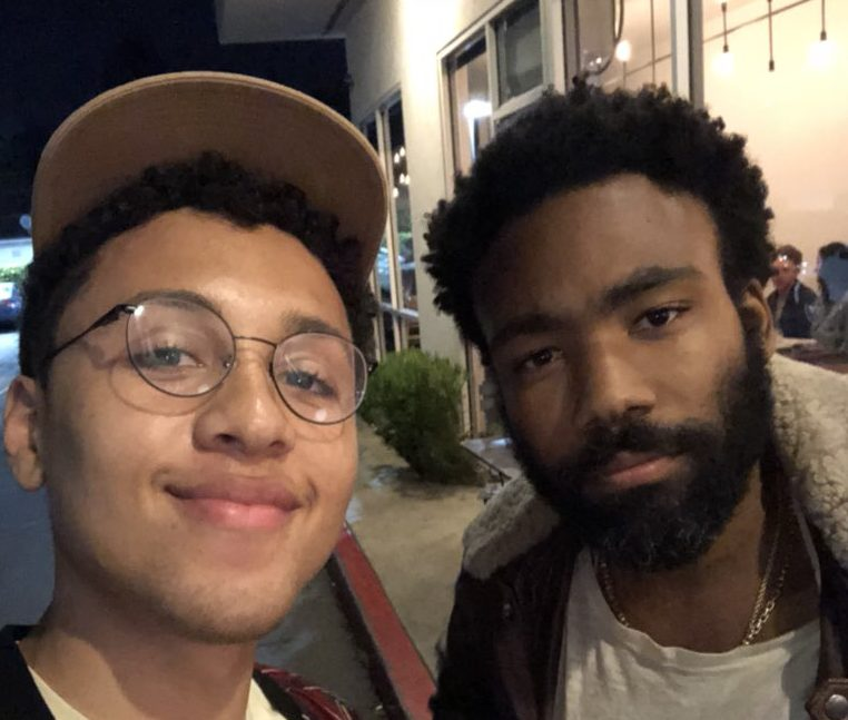 Photo of Donald Glover With Fan Jaboukie Young-White