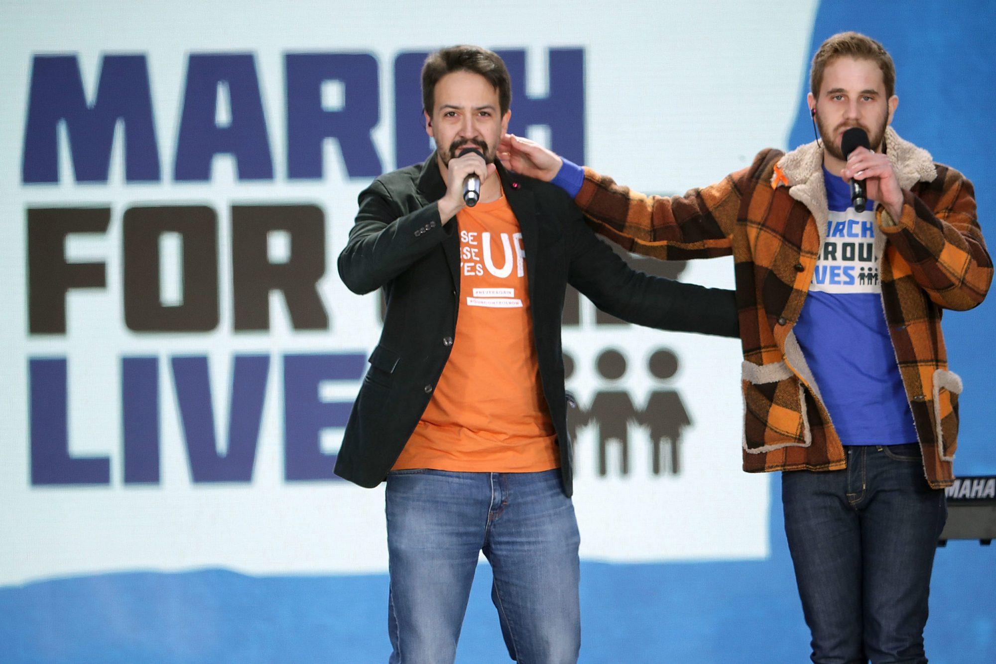 """Photo of """"Found/Tonight"""" Singers Lin-Manuel Miranda and Ben Platt"""