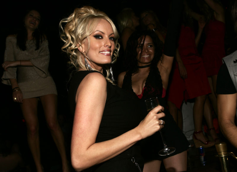 LAS VEGAS - JANUARY 12: Actress Stormy Daniels poses for photos at a naughty night to remember at TAO Nightclub at The Venetian Hotel and Casino Resort on January 12, 2008 in Las Vegas, Nevada. (Photo by Chris Farina/WireImage) *** Local Caption ***