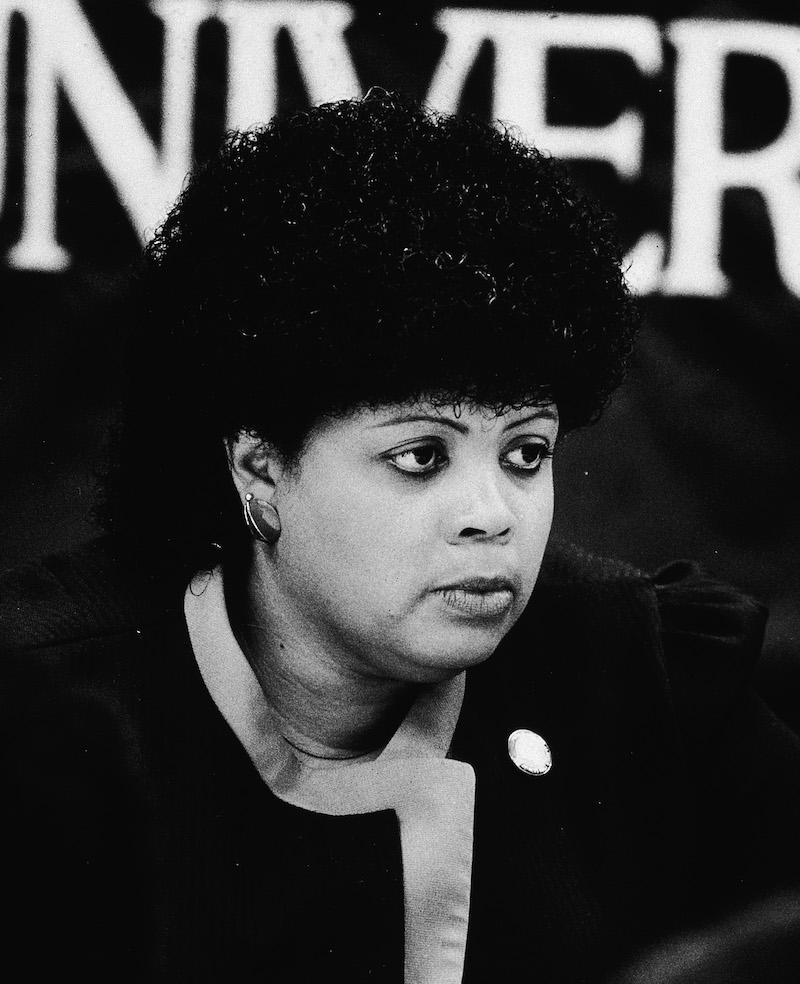Linda Brown at 1984 press conference