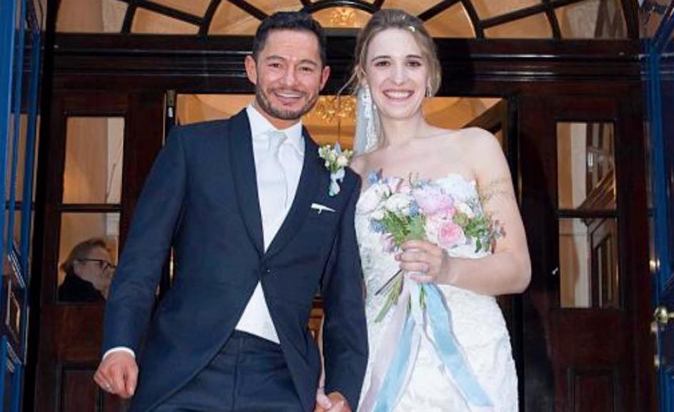 Trans couple's wedding headline