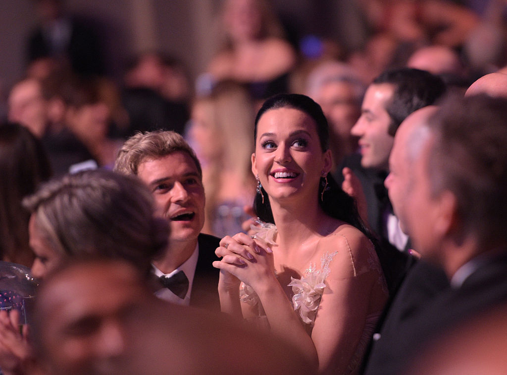 NEW YORK, NY - NOVEMBER 29: Orlando Bloom and Katy Perry attend the 12th annual UNICEF Snowflake Ball at Cipriani Wall Street on November 29, 2016 in New York City.
