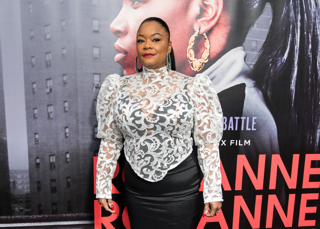 """NEW YORK, NY - MARCH 19: Roxanne Shante attends the """"Roxanne Roxanne"""" New York Premiere at SVA Theater on March 19, 2018 in New York City. (Photo by Mike Pont/WireImage)"""