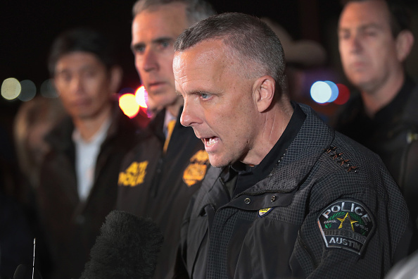 Police Chief Brian Manley says Austin bombings are domestic terrorism