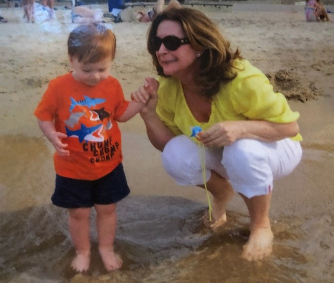 At the beach with the grandkids. 2013.