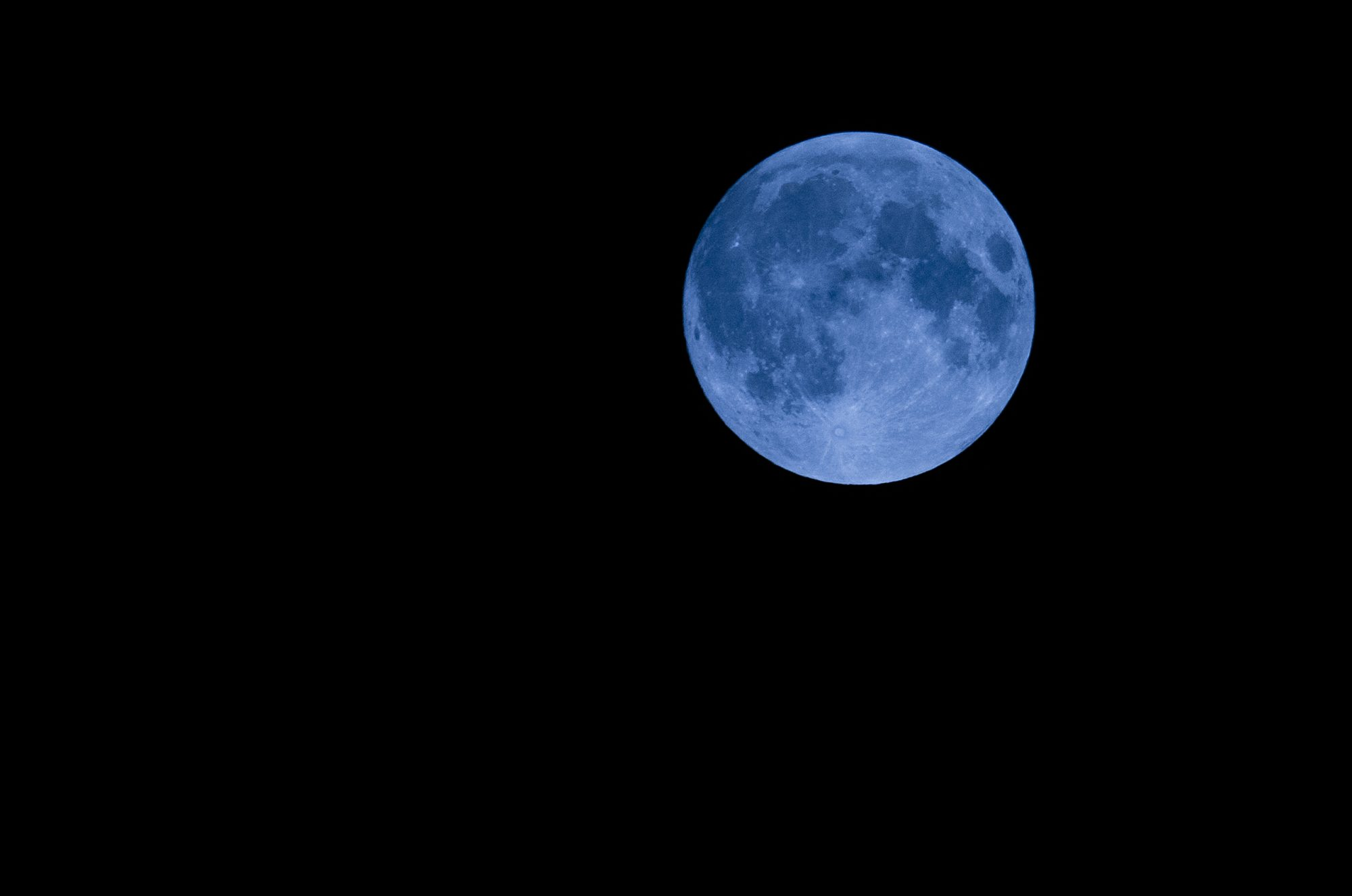 Image of a blue moon