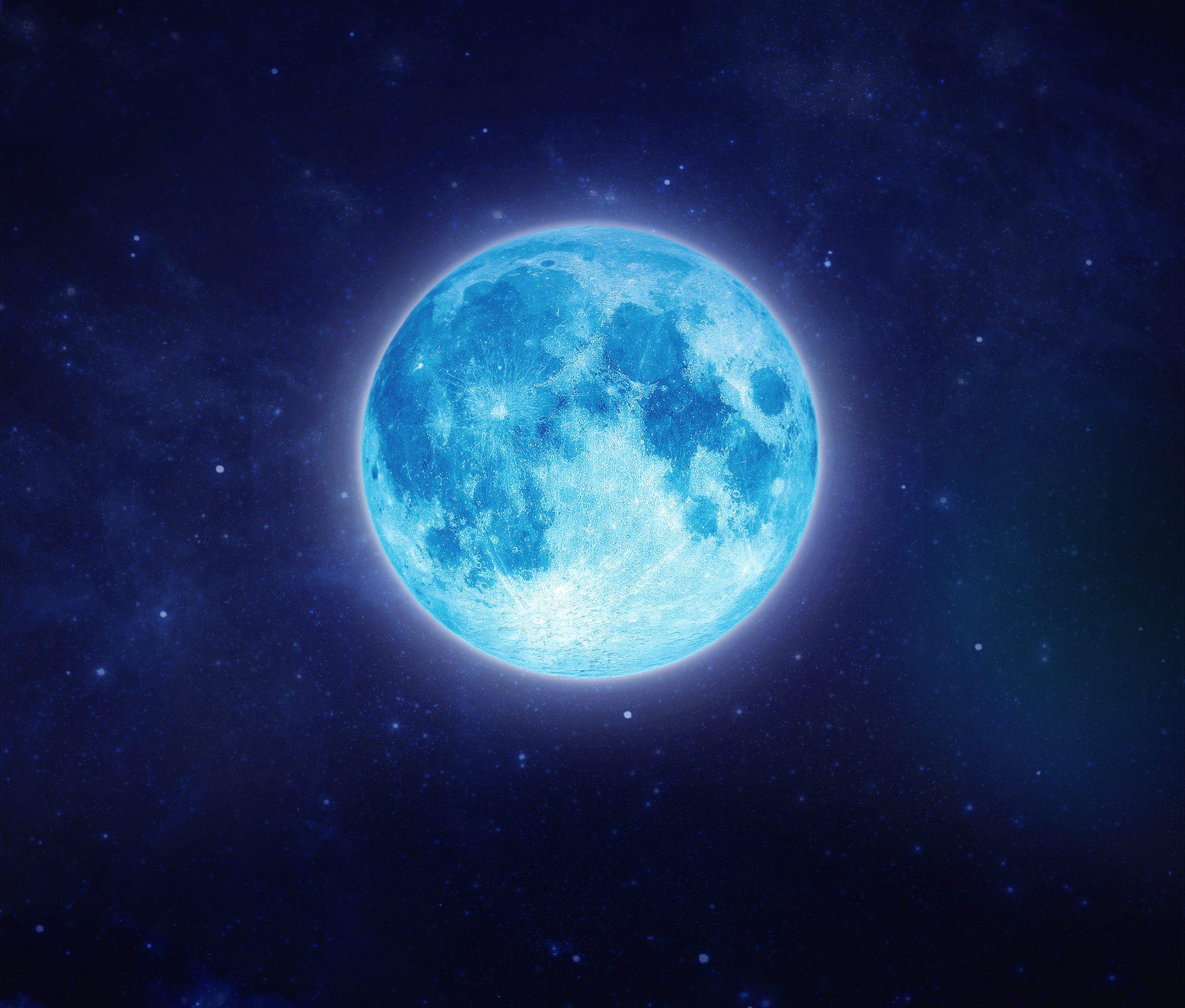 Image of full blue moon