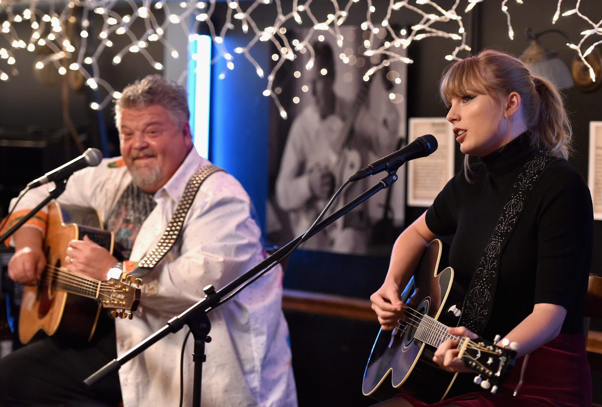 Photo of Taylor Swift at Bluebird Cafe in Nashville