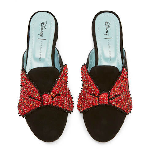 MM Bow Mules Red Sparkle