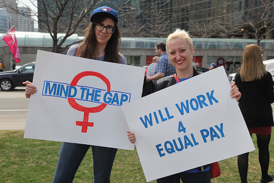 Equal Pay Day rally