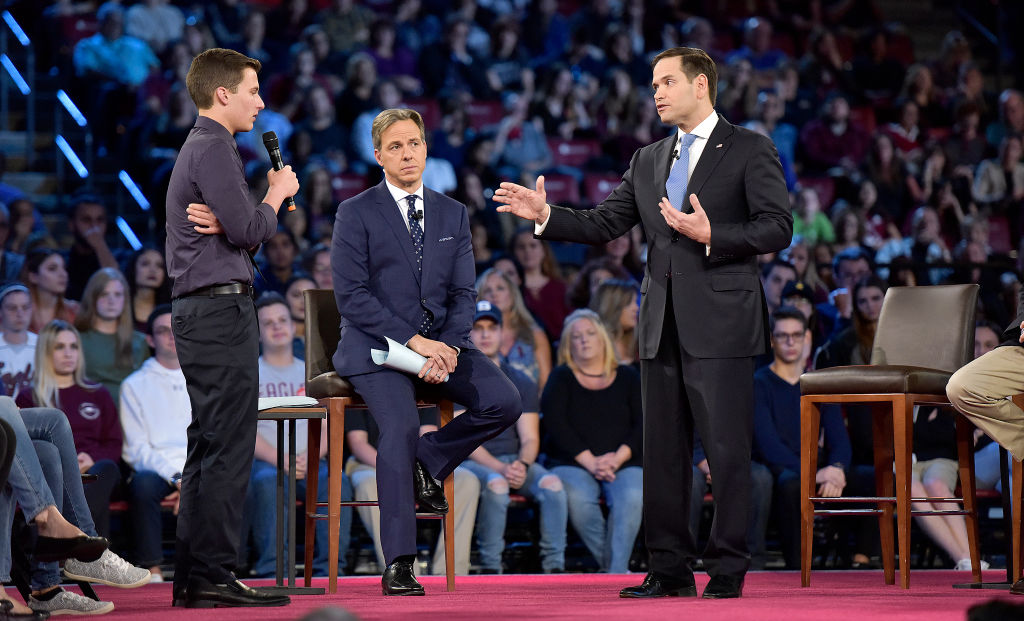 Picture of Town Hall For Our Lives Cameron Kasky Marco Rubio