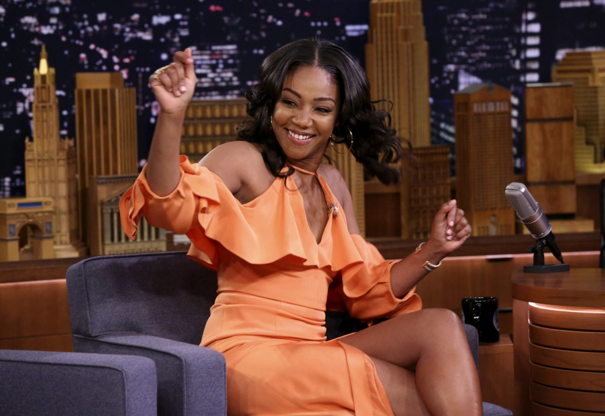 "Photo of Tiffany Haddish on ""The Tonight Show Starring Jimmy Fallon"""