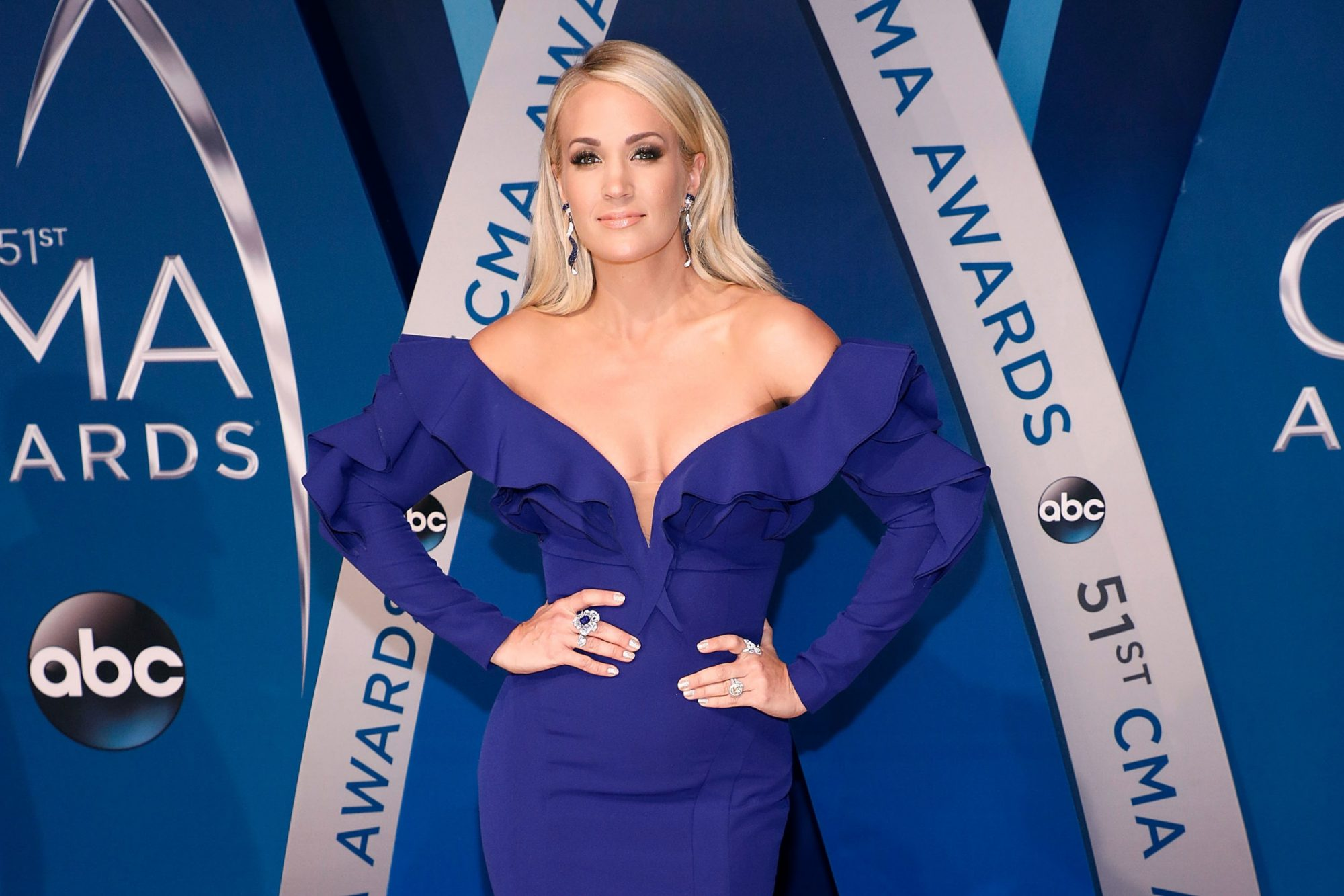Photo of Carrie Underwood at the 51st Annual CMA Awards