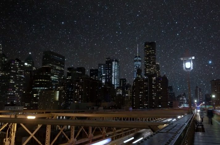 Photo of New York City Night Sky Without Light Pollution