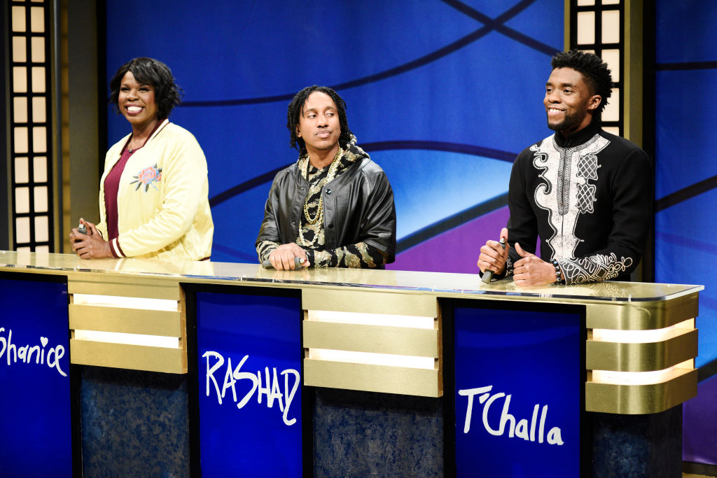 Picture of Chadwick Boseman Black Jeopardy SNL