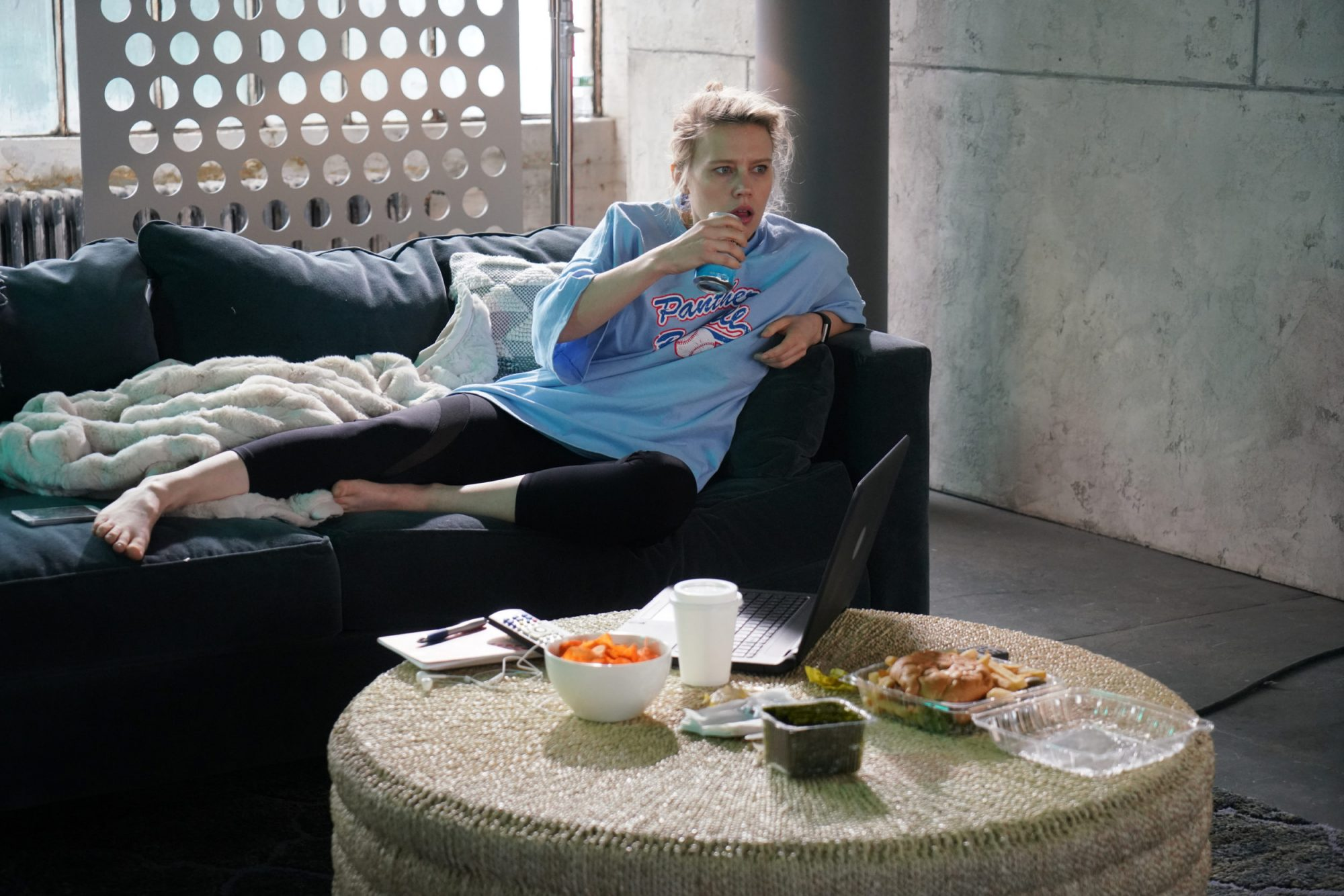 Photo of Kate McKinnon in Pro-Chiller Leggings Commercial on SNL