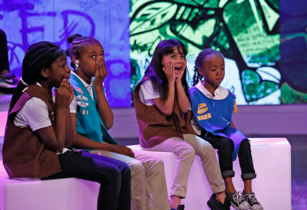 """THE VIEW - Girl Scouts from Troop 6000 are the guests Thursday, June 15, 2017 on ABC's """"The View."""" """"The View"""" airs Monday-Friday (11:00 am-12:00 pm, ET) on the ABC Television Network."""