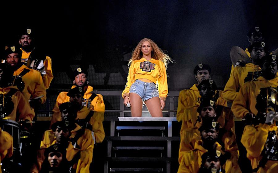 Beyoncé performing at Coachella 2018