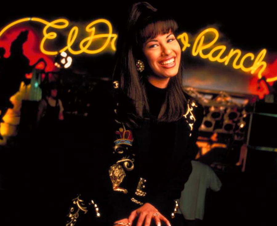 Selena Quintanilla in a night club