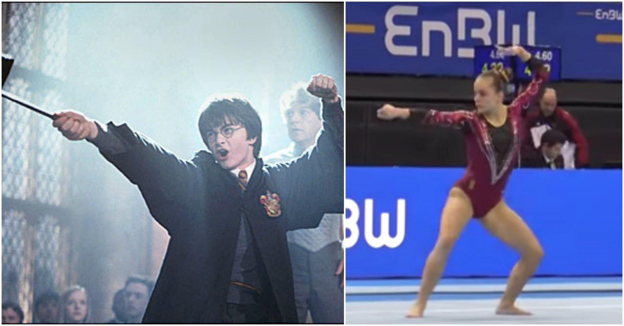 Image from Harry Potter-themed routine