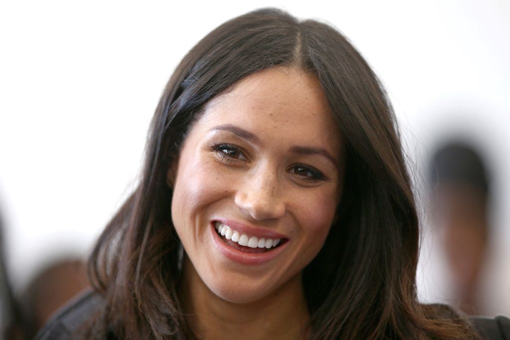 US actress and fiancee of Britain's Prince Harry Meghan Markle attensd a reception with delegates from the Commonwealth Youth Forum in central London on April 18, 2018, on the sidelines of the Commonwealth Heads of Government meeting (CHOGM). / AFP PHOTO / POOL / Yui Mok (Photo credit should read YUI MOK/AFP/Getty Images)