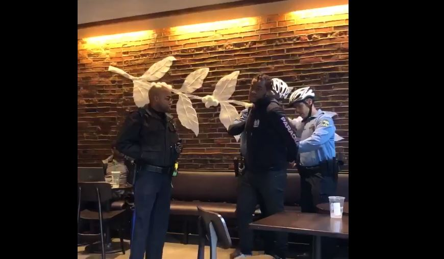 Donte Robinson and Rashon Nelson arrested at Starbucks.