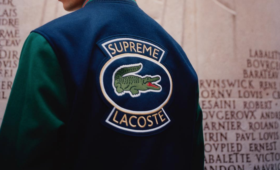 supreme x lacoste spring collection