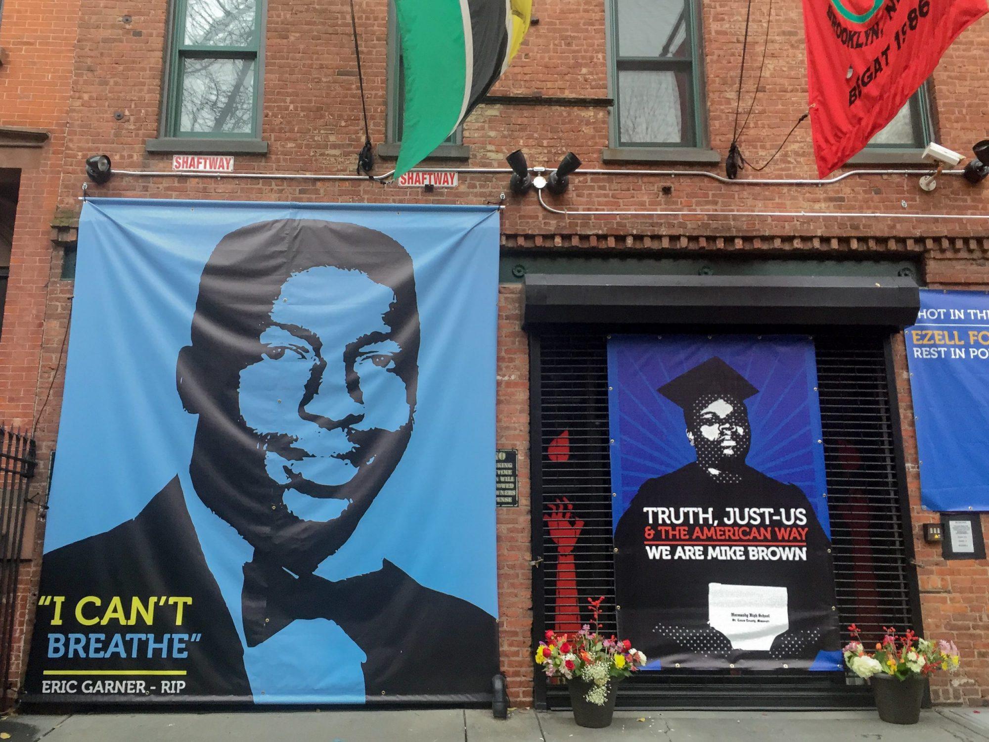 Photo of Eric Garner Memorial in Brooklyn, New York City