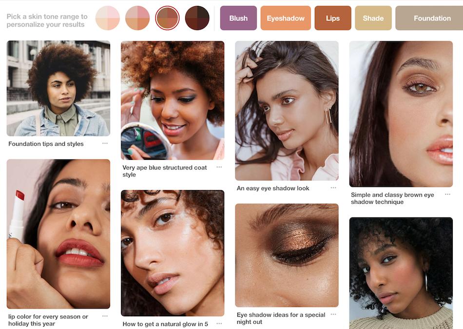 Pinterest Beauty Diverse Feature
