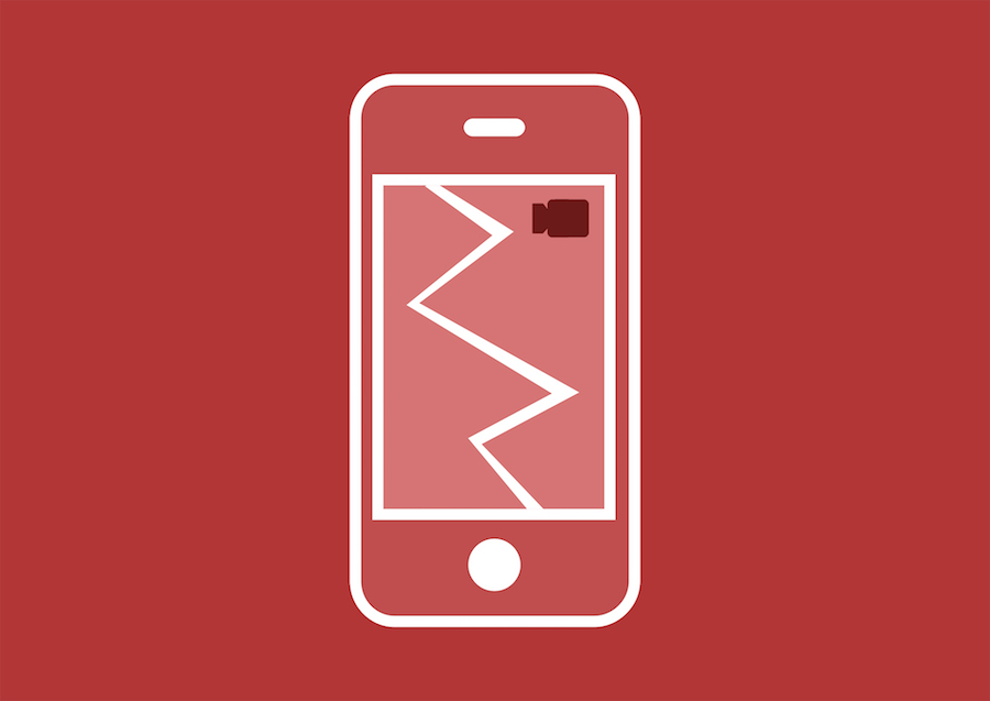 illustration of broken smartphone