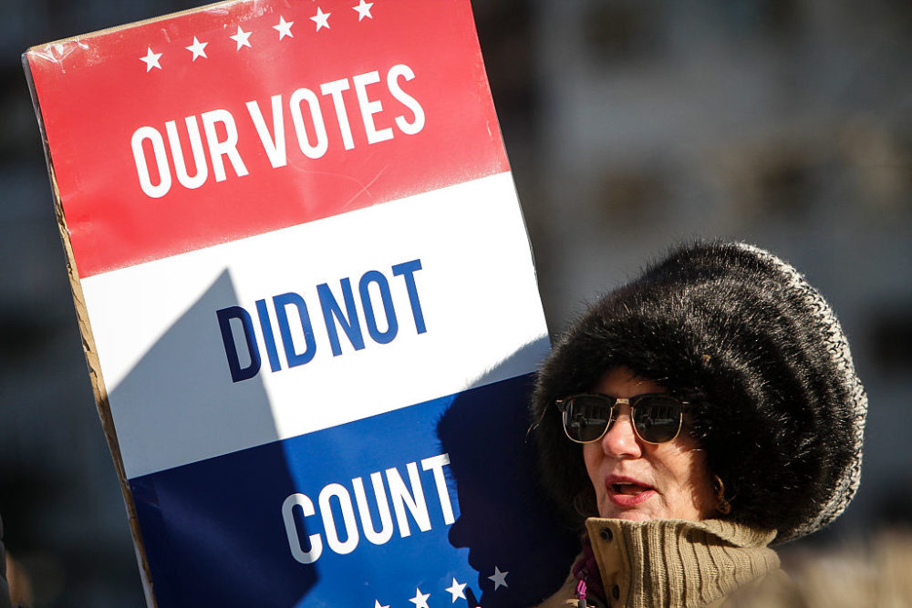 States are agreeing to give their Electoral College votes to the popular vote winner.