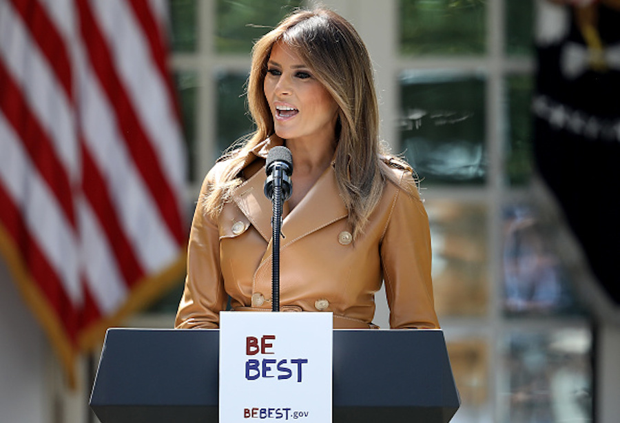 "Melania Trump at the ""Be Best"" launch"