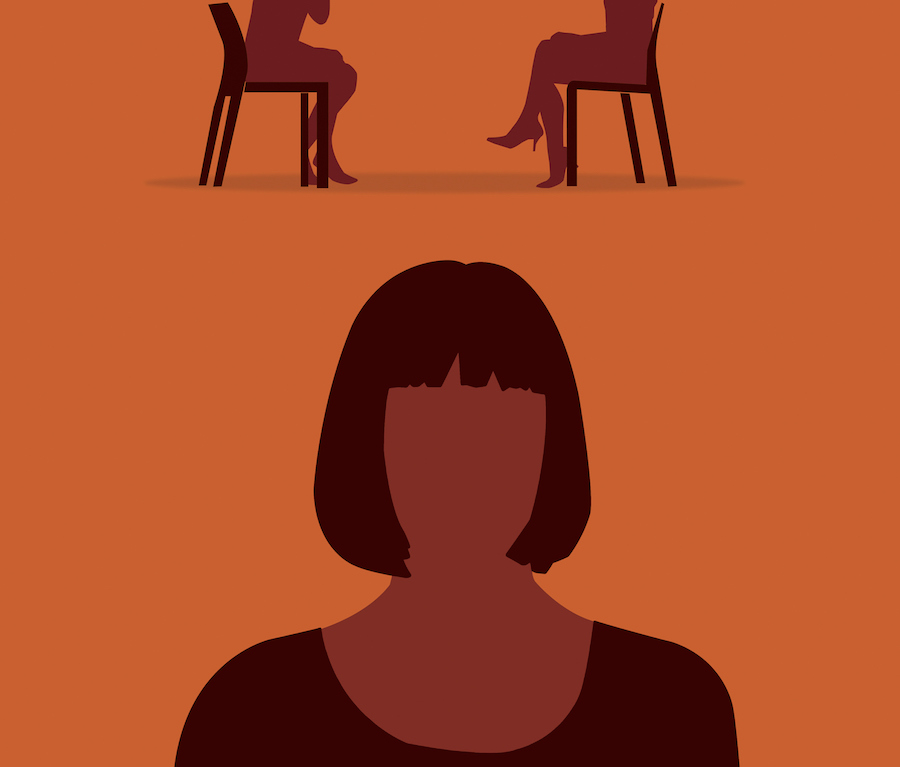 Woman thinking about therapy