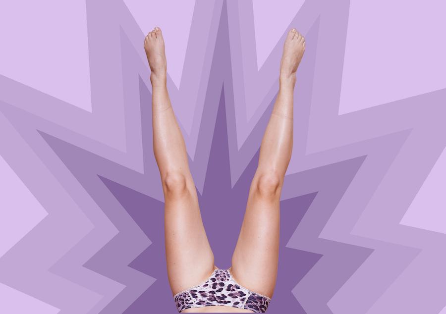 Woman's legs, underwear