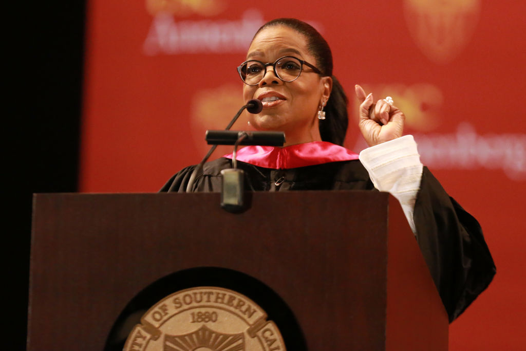 Picture of Oprah USC Commencement Speech