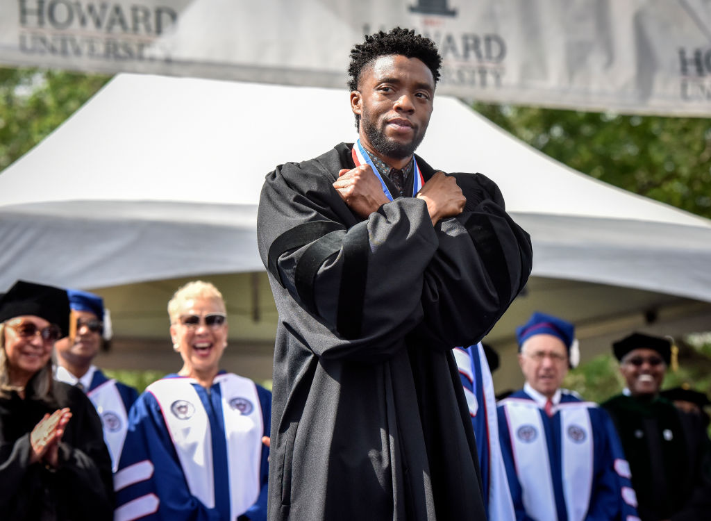 Picture of Chadwick Boseman Howard University