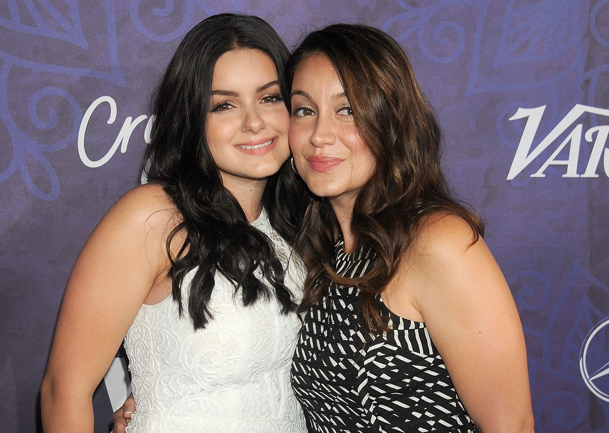 Actress Ariel Winter and sister Shanelle Workman arrive at the Variety And Women In Film Annual Pre-Emmy Celebration at Gracias Madre on August 23, 2014 in West Hollywood, California.
