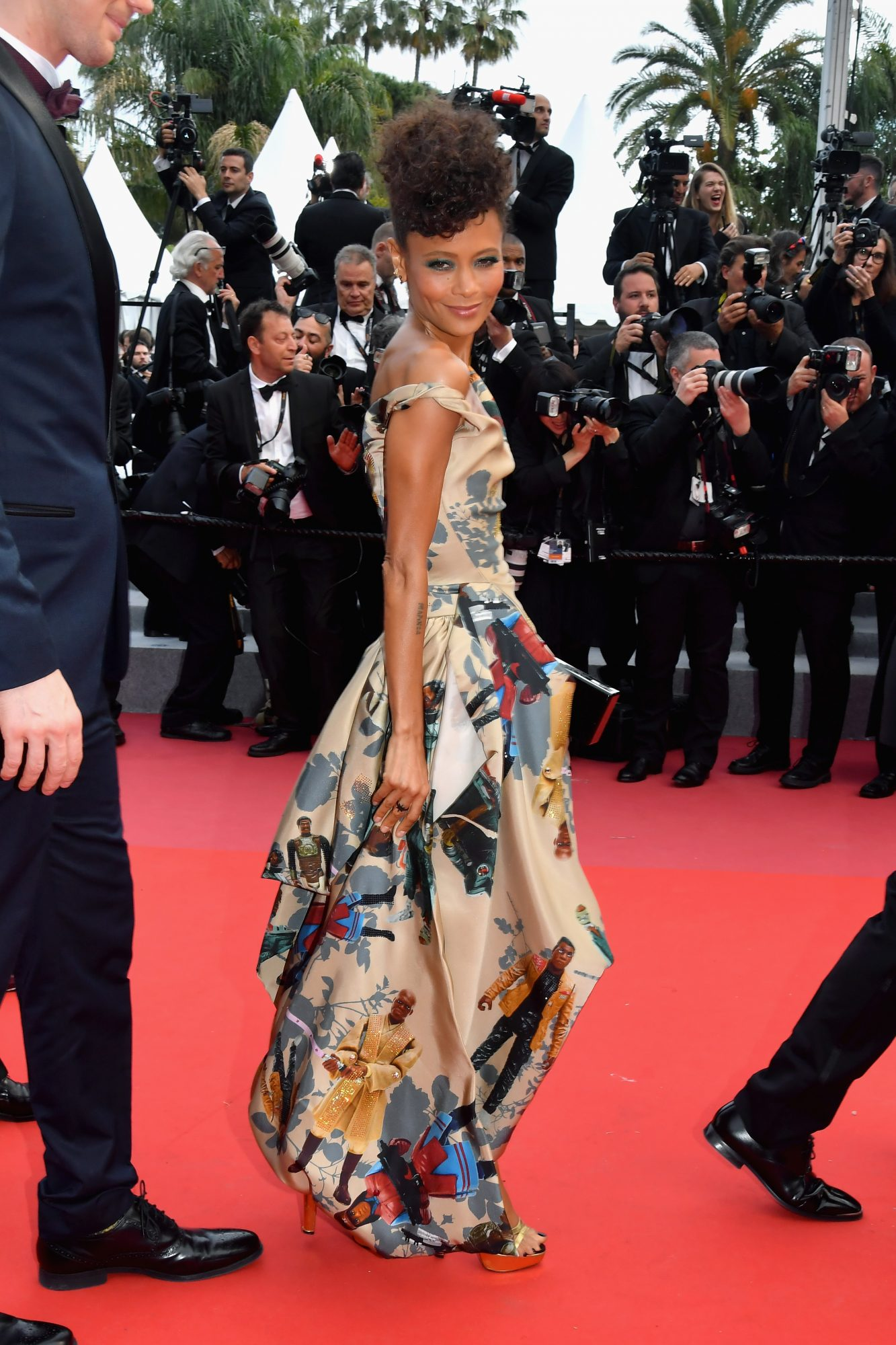 CANNES, FRANCE - MAY 15:  Actress Thandie Newton attends the screening of