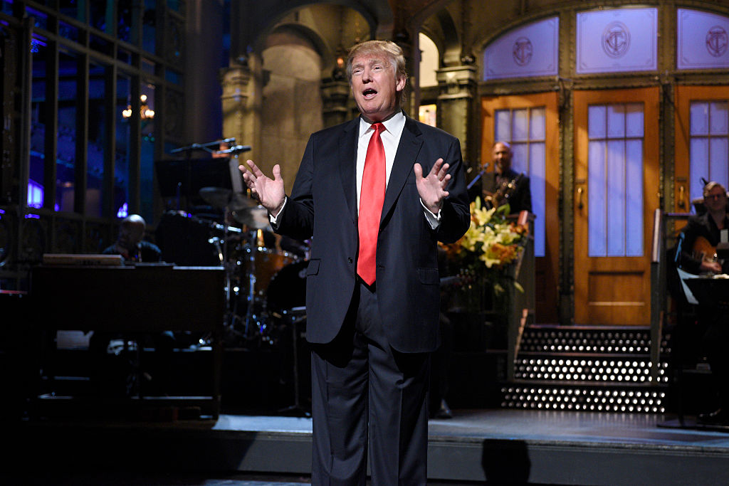 Picture of Donald Trump Pete Davidson SNL