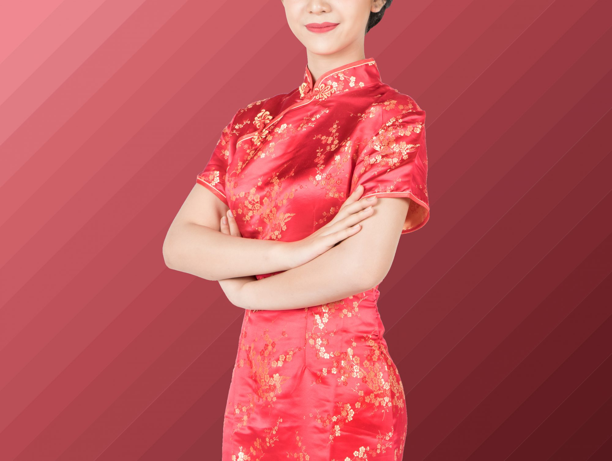 Chines woman wearing a qipao