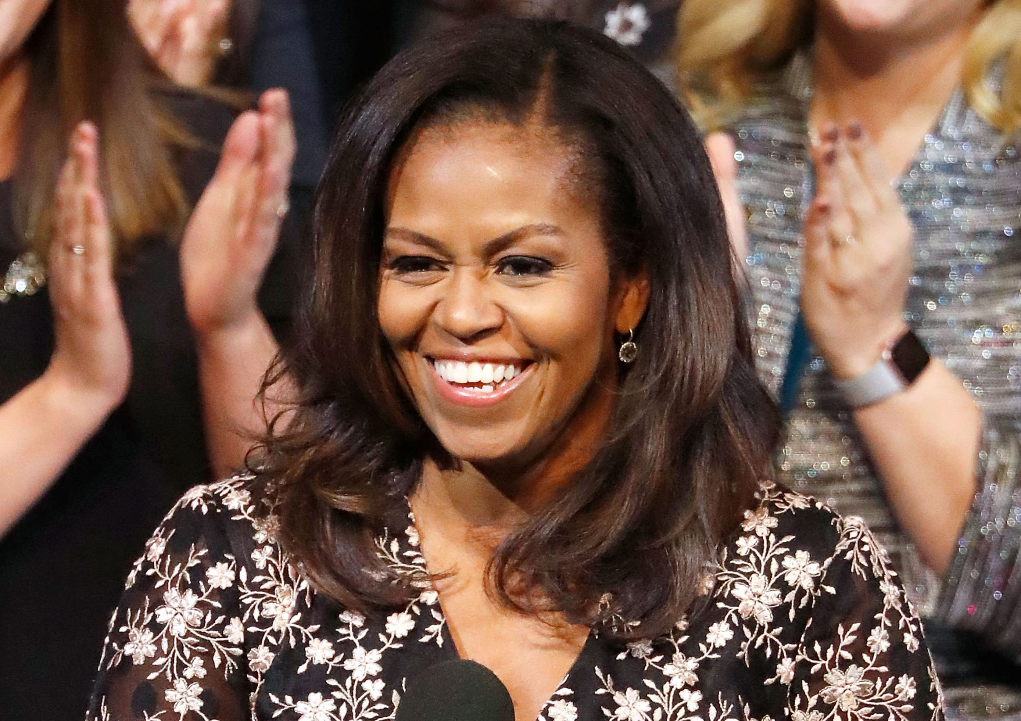 WASHINGTON, DC - FEBRUARY 02: Michelle Obama, former First Lady of the United States, honors the 2018 School Counselor of Year at a special celebration at The Kennedy Center on February 2, 2018 in Washington, DC.