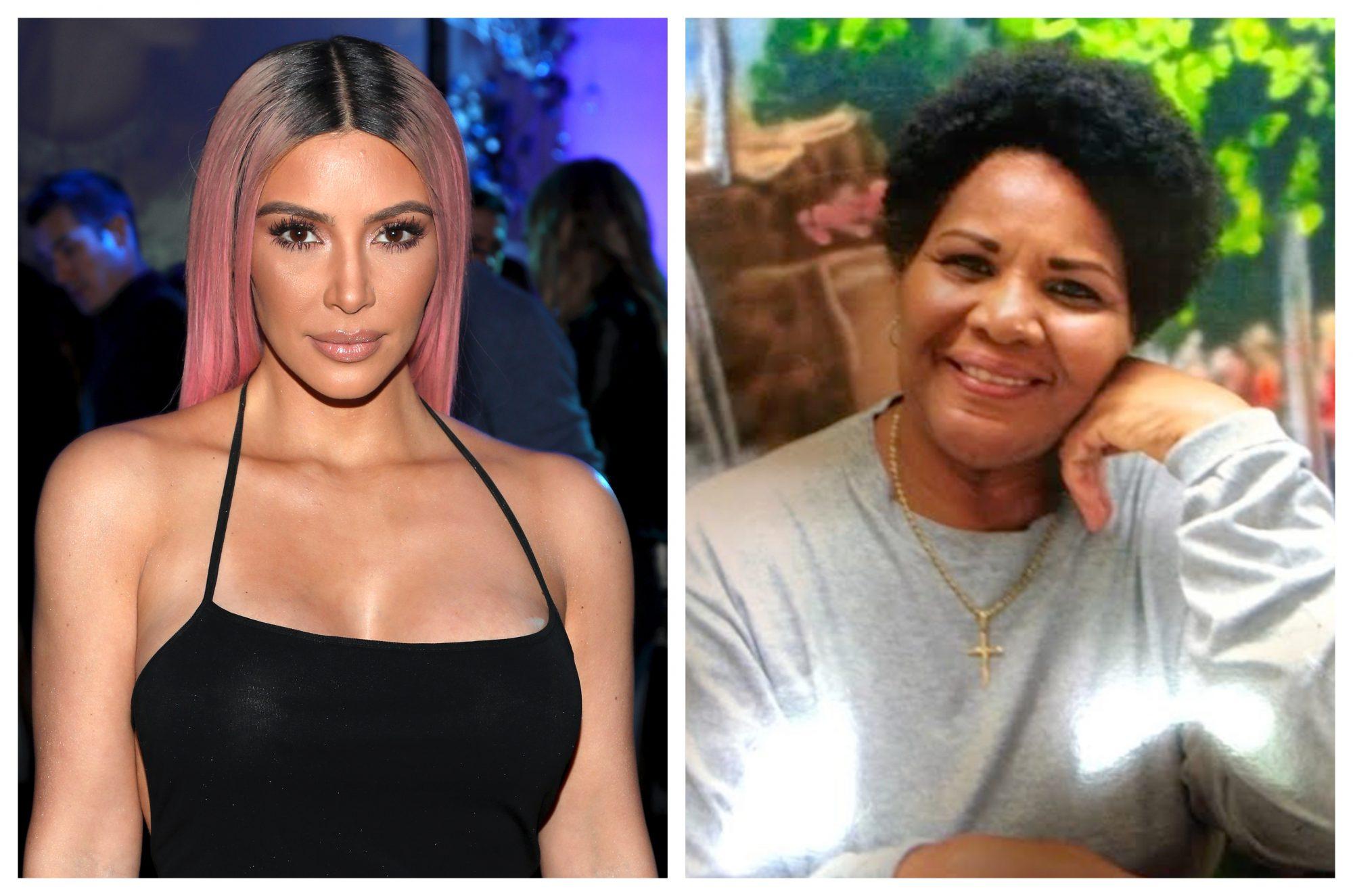Image of Kim Kardashian and Alice Johnson